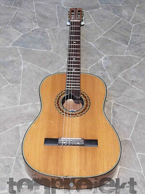 gorgeous PERLGOLD all solid vintage 7/8 quality Classical Guitar Germany 1960s
