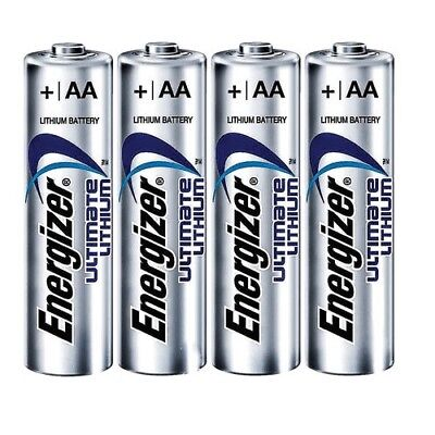 4 Pcs Energizer Aa Ultimate Lithium 1.5V Battery Aa 4X Size L91 2036
