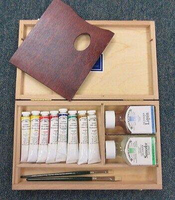 Winsor & Newton Artists Professional Oil Wooden Box 8 Tube Paint Gift Set A