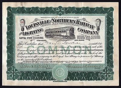 1907 Indiana: Louisville and Northern Railway and Lighting Co - Samuel Insull