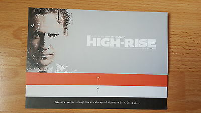 High-Rise (2015) - Tom Hiddleston - Film Movie Fold-Out Promotional Flyer
