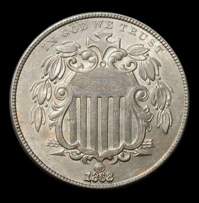 1868 United States Shield Nickel Coin Brilliant Uncirculated Condition