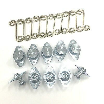 """5/16"""" Self Eject .700"""" Long Dzus Fasteners With 1-1/8"""" Springs"""