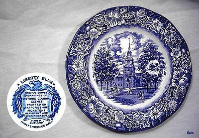 Liberty Blue Independence Hall Plate - Staffordshire