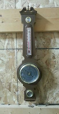 Springfield Weather Station,Thermometer,Barometer,Humidity Meter,Wall Hung Banjo