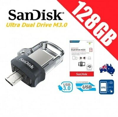 SanDisk 128GB USB 3.0 Ultra Dual OTG Micro USB Flash Thumb Drive Memory Stick PC