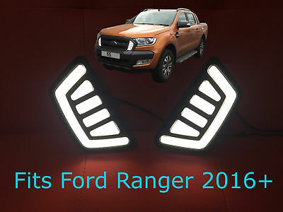 Ford Ranger Pickup 2016 + T6 Facelift Front LED DRL's - Daytime Running Lights