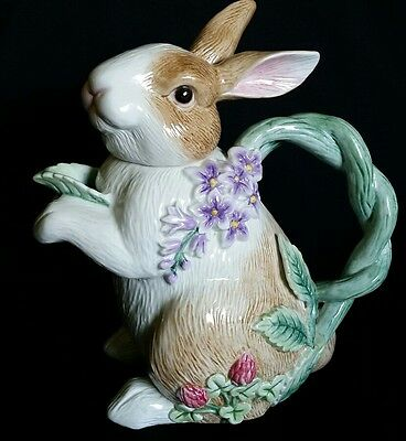 FITZ AND FLOYD Essentials Easter Cute  Bunny Teapot