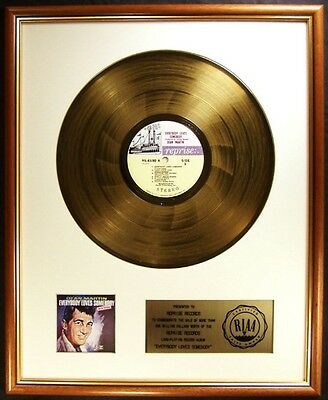 Dean Martin Everybody Loves Somebody LP Gold RIAA Record Award To Reprise