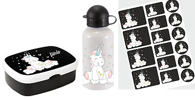 various Sets Lunch box Rosti Mepal Campus midi with name Unicorn Unicrn cutie