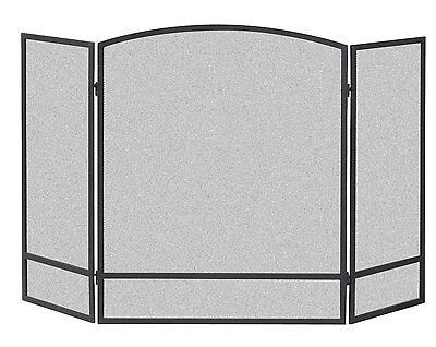 Fireplace SAFETY SCREEN 3-Panel Arch Screen w Double Bar FREE SHIPPING