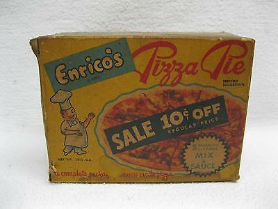 Enricos Pizza Pie Box and Contents Vintage Food Packaging Old Package