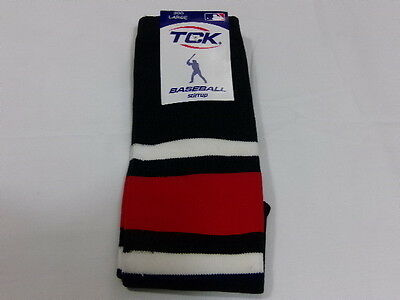 Tck Baseball Stirrup 300 Large 19 Inch Medium Weight New Navy Red White