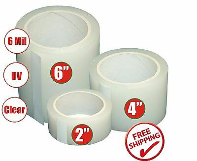 Poly Patch Tape Clear UV Greenhouse Tunnel Permanent Repair Tape - 108FT Length