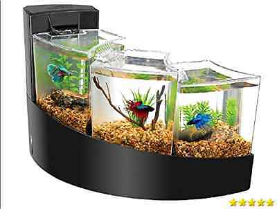 Aqueon Kit Betta Falls Fish, Tank, Decoration, Décor, Plant