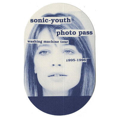 Sonic Youth Blue Photo 1995-1996 Backstage Pass