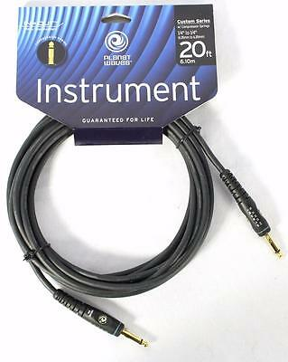 """D'addario Planet Waves PW-GCS-20 20' 1/4"""" Electric Guitar Bass Instrument Cable"""