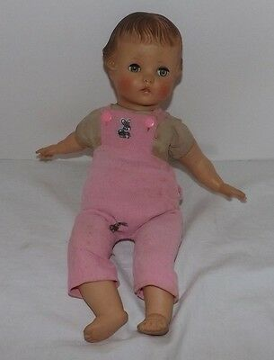 """Vintage Madame Alexander 14"""" CRY BABY DOLL (Soft Plastic and Fabric Composition)"""