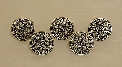 5 Vintage Soft Gold Finish Art Deco Style Hardware Drawer Cabinet Knobs