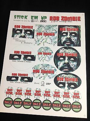 Rob Zombie PAST PRESENT FUTURE Promotional AEC Amped Stickers