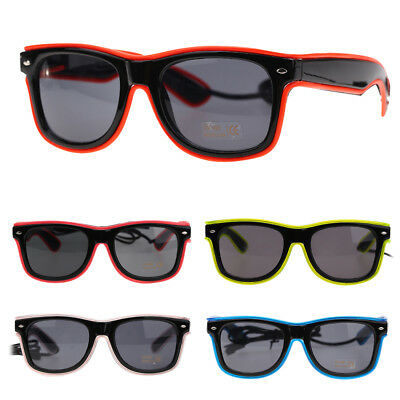 El Wire LED Light Up Shutter Shaped Glasses Partybrille Leuchtbrille Party Disco