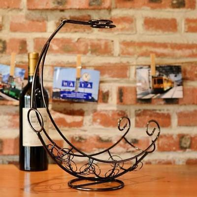 Metal Wine Bottle Storage Holder Champagne Rack Bar Stand Bracket Bronze #1