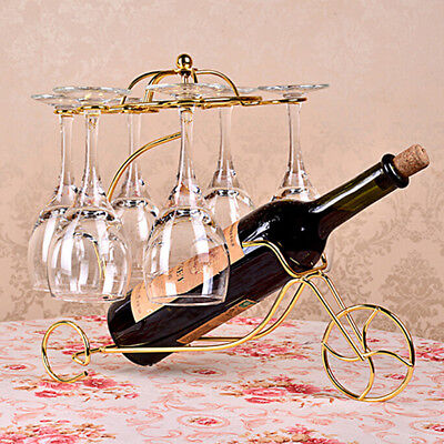 Wine Bottle Storage Holder Rack Bar Display Free Standing Bracket Golden #3