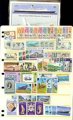 60 Tristan da Cunha Stamps Mint MH MNH Used All Different Lot N67