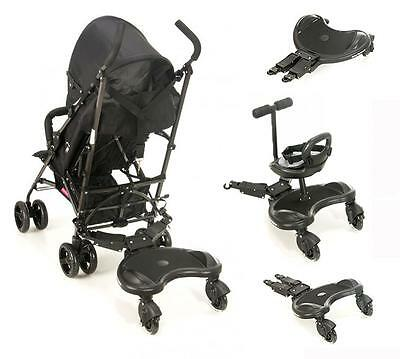 Toddlers Buggy Stroller Board Stand and Sit Kids Ride On Seat for Prams Joggers