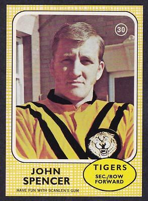 Scanlens 1970 Tigers John Spencer No.30