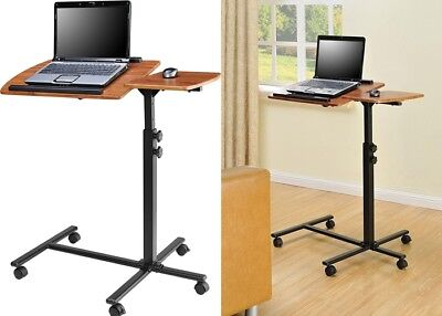 Rolling Laptop Desk Stand Table