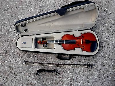 Violin With Bow & Case Full Sized Enrico Practice Learner Fiddle Christmas