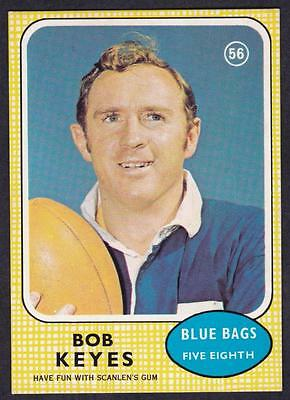 Scanlens 1970 Blue Bags Bob Keyes No.56