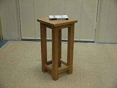 Solid Oak Square Side Lamp Bedside Wine Table High Quality No Assembly