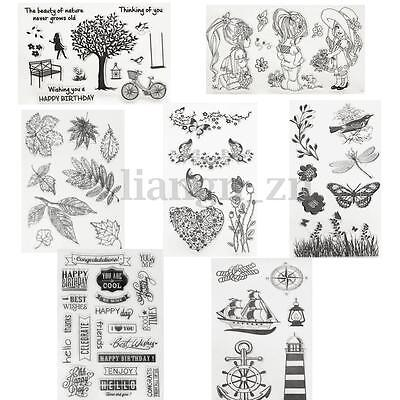 7 Types DIY Silicone Timbre Tampon Scrapbooking Gommette Carte Stamp Transparent