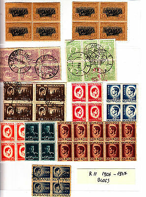 ROMANIA Old Stamps Roumanie blocs divers 1906-1947 Lot R 11