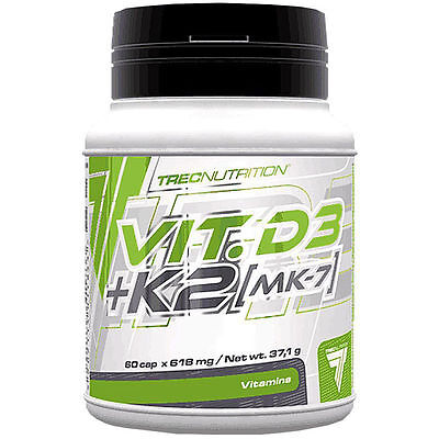 Trec Nutrition VITAMIN D3 + K2 MK-7 Supports Bone, Immune And Muscle System