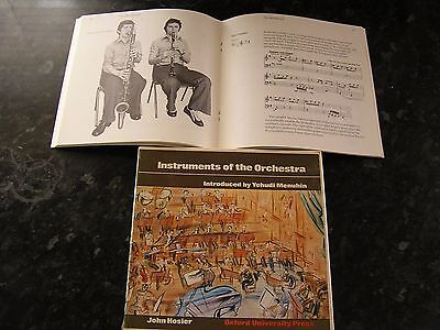 "YEHUDI MENUHIN    INSTRUMENTS OF THE ORCHESTRA   4 x 7"" inch DISCS  . BOXED"