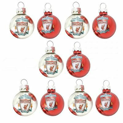 Liverpool FC Official Football Crest Christmas Tree Baubles (Pack Of 10)