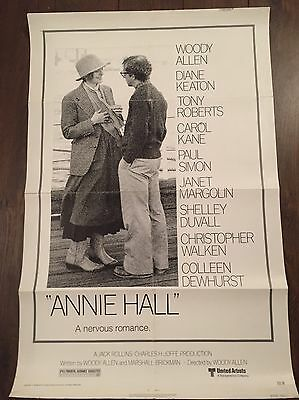 Annie Hall Woody Allen 1977 Original Movie Poster