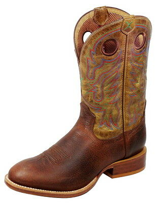 Twisted X Mens New Stockman Western Boots Cowboy Boots built for riders MSML002