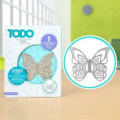 TODO - Intricate Butterfly (Small) Letterpress & Hot Foil Plate