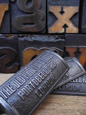 12 x Vintage Style Old Printing Shop Portobello Rd Cup Handles drawer pulls knob