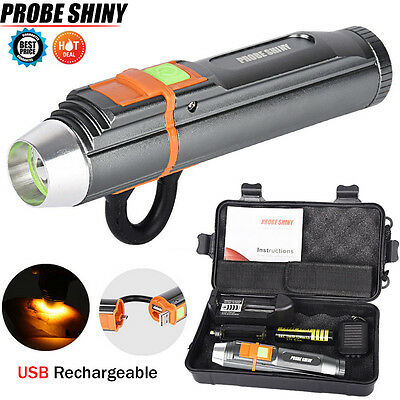Portable 5000LM Adjustable LED Zoom XM-L T6 USB Rechargeable Flashlight Torch UK