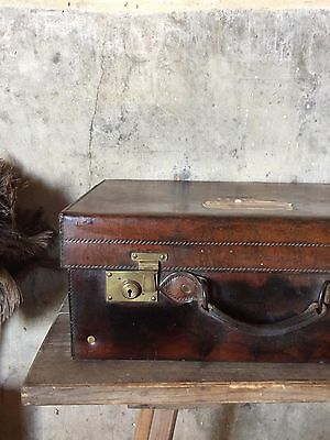 Vintage Mappin and Web leather travel suitecase