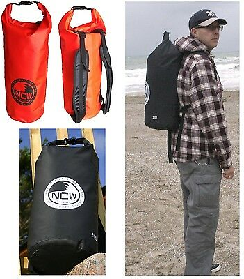 100% waterproof dry bag. H.D. PVC. Padded rucksack straps, 30L carry lots of kit