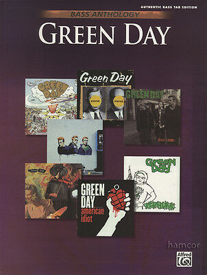 Green Day Bass Anthology Authentic Bass Guitar TAB Edition Music Book