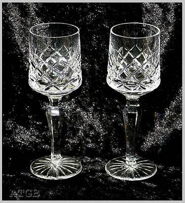 Vintage pair of sparkly crystal cut crystal liqueur or shot glasses 12cm tall