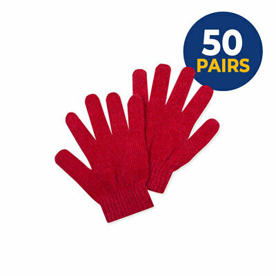 Wholesale 50 Pairs Unisex Red Knitted Gloves Suitable Iphone Ipad Touch Screen