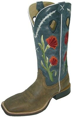 Twisted X Ladies Ruff Stock Western Boots Cowboy Boots built for riders WRS0017